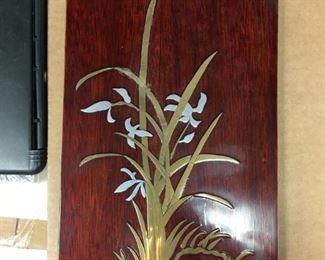 https://www.ebay.com/itm/124123537178KB0013: Metal Inlayed Wood Art set of 2  $5