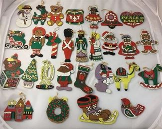 $15 https://www.ebay.com/itm/114190028125KB0123: 1960's-1970's Vintage Lot of 28 2-Sided Hand Painted Wooden Christmas Ornaments  $15