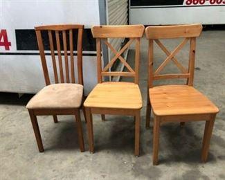 """https://www.ebay.com/itm/124151298885PA010: Wooden Chair 17""""x17.5""""x36"""" $15 Each"""