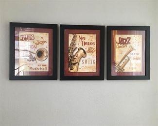 https://www.ebay.com/itm/114186818173PA012: New Orleans Jazz Frames, 3 pieces 3 New Orleans Framed Artwork Local Pickup  $15