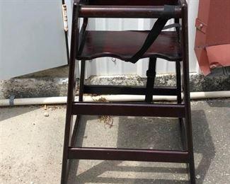 https://www.ebay.com/itm/114186834462PA031: Wood High Chair  $35