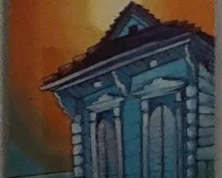 https://www.ebay.com/itm/124154721621PA045: Single New Orleans House Tin Type Hanging Wall Art  $40