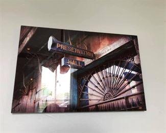 https://www.ebay.com/itm/124154723186PA047 Preservation Hall Tin Type Hanging Wall Art   $40