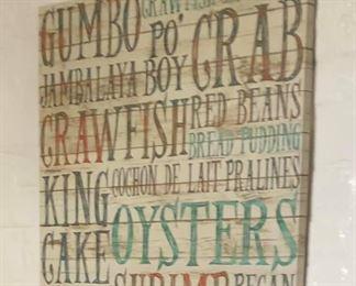 https://www.ebay.com/itm/114188029284PA049 Gumbo, Crab Fish Hanging Wall Art  $15