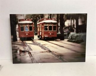 https://www.ebay.com/itm/124154811030PA052: New Orleans Red Streetcars Tin Type Hanging Wall Art  $40