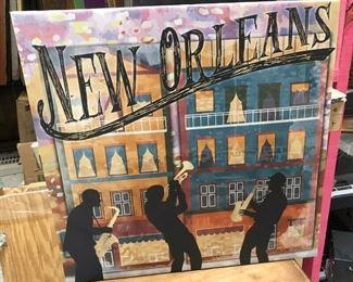 "https://www.ebay.com/itm/114188201147PA054 New Orleans French Quarter Hanging Wall Art 24"" X 24"" $15"