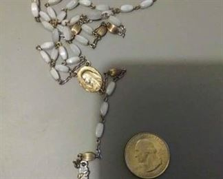 $20 https://www.ebay.com/itm/114160207079RX02 STERLING SILVER ROSARY PEARL COLOR BEADS  $20
