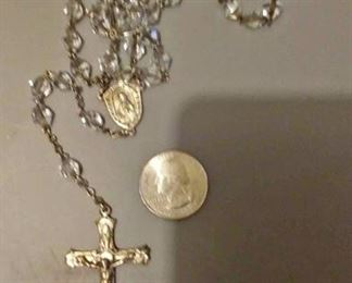 https://www.ebay.com/itm/124131352088RX05: STERLING SILVER ROSARY WITH CLEAR CRYSTAL BEADS  $30