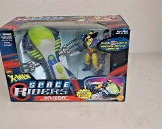https://www.ebay.com/itm/123944358445WY0287 MARVEL COMICS X-MEN ACTION FIGURE SPACE RIDERS WOLVERINE MOTORIZED SLAS  $15