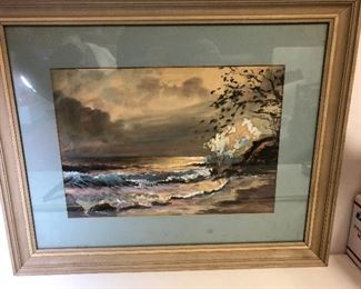 "https://www.ebay.com/itm/124180871758LAN9817: Nestor Fruge 1965 Watercolor ""Seascape Newr Zihuatagejo"" New Orleans Ar $300.00"