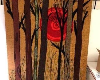 https://www.ebay.com/itm/124181783075LAN9826: Sunset Cross Stitch on Board Hanging Wall Art 1975 $20.00