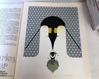 https://www.ebay.com/itm/114218433937LAN9835 Charles Harper Serigraph Birdwatcher 1975 Br-r-r-r-rthday Penguin #ed and Signed $1,000.00