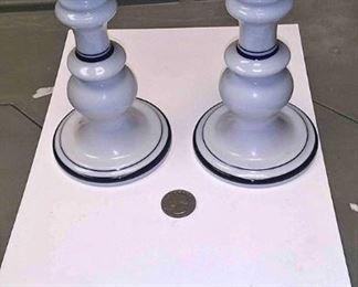 https://www.ebay.com/itm/124173665110AB0346 DANSK BISTRO CHRHVN BLUE SET OF TWO CANDLE STICKS  BOX 79 AB0346$20