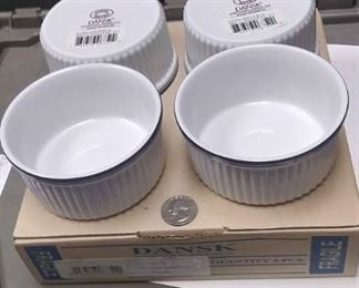 $20 https://www.ebay.com/itm/114209793056AB0348 DANSK BISTRO CHRHVN BLUE SET OF FOUR RAMEKIN SMALL BOWLS  MICROWAVE SAFE NEW We have three sets of these, two in the box one out BOX 79 AB0348$20