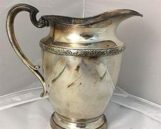 https://www.ebay.com/itm/124173560828KB0130: Friedman Silver Co Silver Plate Water Pitcher$15