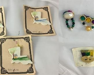 https://www.ebay.com/itm/114209662790KB0141: Lot of Vintage Mardi Gras Louisiana Pins, 9 pieces$25