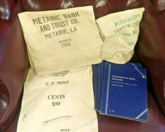 https://www.ebay.com/itm/114047783470LAN607A LAN607A BANKERS LOT. CONTAINS 3 USED COIN BAGS AND 5 EMPTY USED WHITMAN COIN FOL$20