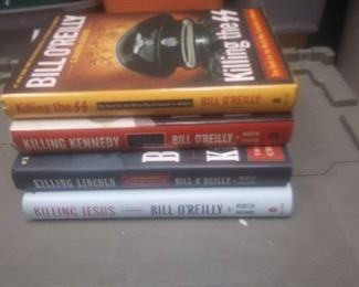 https://www.ebay.com/itm/114212162172RX4252007 LOT OF FOUR BOOKS BY BILL O'REILLY KILLING JESUS, KILLING LINCOLN,  KILLING KENNEDY, KILLING THE SS.BOX 77 RX4252007$20