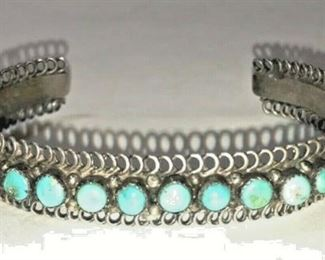 https://www.ebay.com/itm/114212610636RX130: HANDMADE STERLING SILVER AND TURQUOISE MULT STONE BRACELET WEST AM INDIAN $300.00
