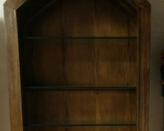 Heavy wood with glass shelves