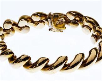 14k Gold Link Bracelet