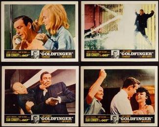 1964 James Bond Movie Goldfinger Lobby Card Assortment