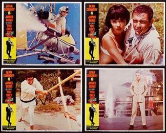 1967 James Bond Movie You Only Live Twice Lobby Card Assortment