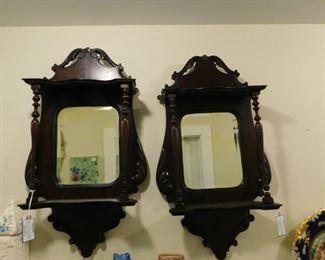 Victorian Mirrored Shelves