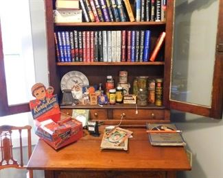 Combination bookcase/desk with storage