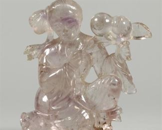 Chinese rock crystal carving, possibly Republican period