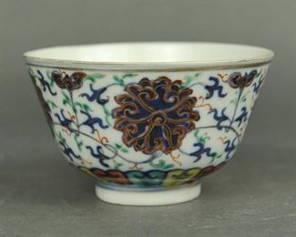Chinese doucai porcelain bowl, possibly 19th c.
