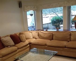 Three piece sectional sofa in very good condition.