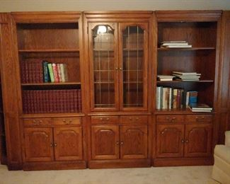 5 piece lighted library wall unit - Sold