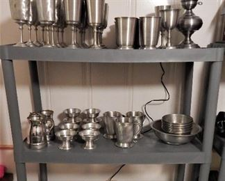 Pewter Dishes - These were commissioned by the owner and were made by an artisan in Silver Dollar City named Silky
