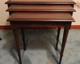 Mahogany Nesting Tables