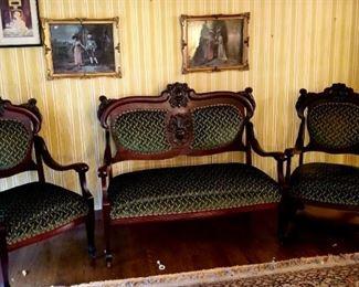 Eastlake Victorian style home furnishings