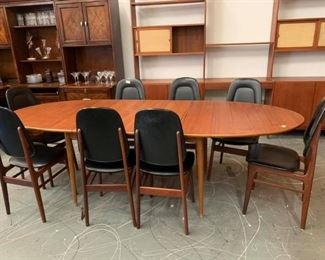 Rasmus Solberg  Mid Century Teak-Wood Dining Table with 8 Chairs!