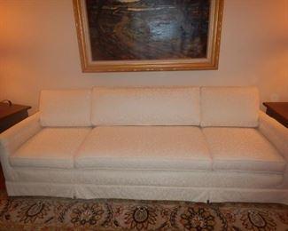Cream Jacquard 4 seat sofa $395