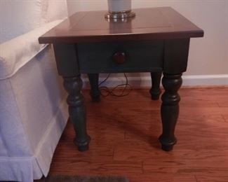 1 of 2 farmstyle end tables $55.00 each