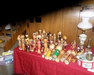 LOTS  ALL SIZES  VINTAGE JAPANESE  GEISHA  KOKESHI    DOLLS