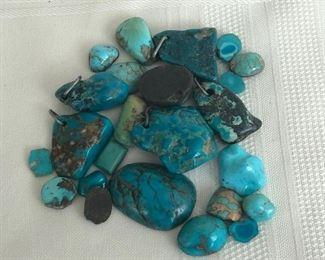 Selection of polished turquoise cabochons