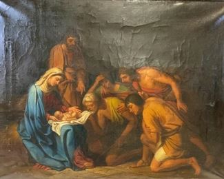 Old Master Style  Oil Painting Birth of Jesus