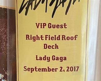 Lady Gaga concert VIP pass