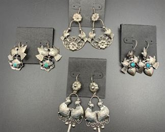 Frida collection .950 silver earrings from Mexico, 50% off all weekend!