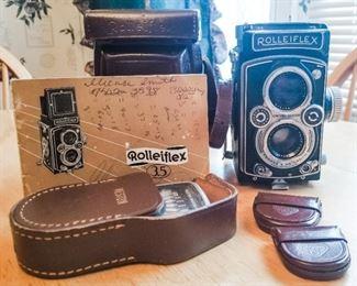 Vintage Rolleiflex Camera & Accessories