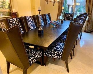 Oversized Custom Dining Table with Iron Base