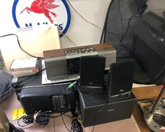 Some of the stereo/radio equipment