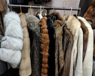 fur jackets and stoles
