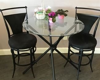 High top round table with 4 chairs  $125