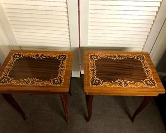 Antique musical sewing boxes